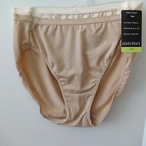 Womens Ellen Tracy Hi-Cut Panties Size 6/m 2 Pair Sunbeige/blush  Photo