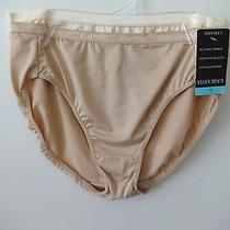 Womens Ellen Tracy Hi-Cut Panties Size 7/l 2 Pair Sunbeige/blush  Photo