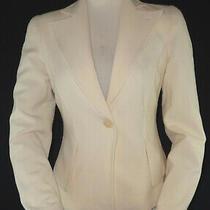 Womens Emporio Armani Wool Blend Blazer Jacket Soft Blush Pink Sz 6 It 40  Photo
