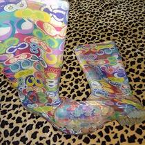 Womens Excellent Used Condition Coach Poppy Rain Boots Colorful Size 7 Footwear  Photo