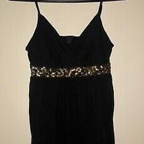 Womens Express Brand Princess Tank Size Xs Preowned Black and Gold Photo