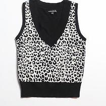 Womens Express Cheetah Print Sweater Vest S Photo