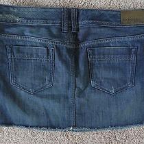Womens Express Denim Jean Mini Skirt Short Size 8-10 Distressed  Photo