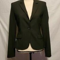 Womens Express Design Studio Blazer Size 4 Black Long Sleeve One Button Photo