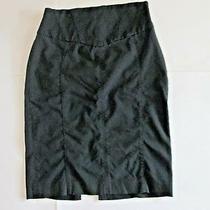 Womens Express Design Studio Stretch Black Knee Length Skirt Size 6 Excellent Photo