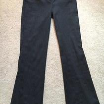 Womens Express Editor Pants Slacks 0 Gray Pin Stripe  Inseam 32 Photo
