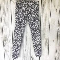 Womens Express Gray Abstract Printed Skinny Jeans Size 0 Photo