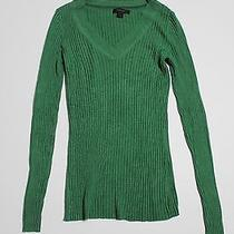 Womens Express Long Sleeve Green Sweater L Photo