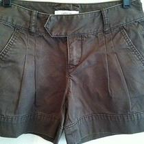 Womens Express Pleated Front 100% Cotton Short Shorts Sz 0 Photo