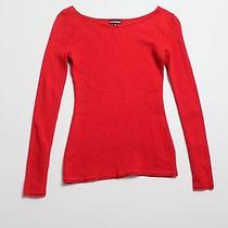 Womens Express Red Long Sleeve Sweater S Photo