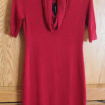 Womens Express Red Sweater Dress Size S Brand New Photo