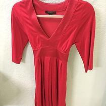 Womens Express Red Tie Waist Tunic Xs Photo