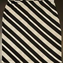 Womens Express Skirt Size Xs Black and White Diagonal Striped Photo