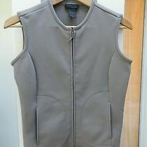 Womens Express Sport Polyester Vest Size S Full Zip Lt Brown Photo