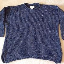 Womens Express Tricot Multi Colored Dark Blue Sweater Sz M Photo