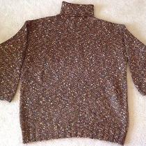 Womens Express Tricot Multi Colored Earth Tones Mohair Metallic Sweater Sz M Photo