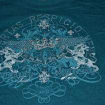 Womens Express Turquoise Tshirt Medium Photo