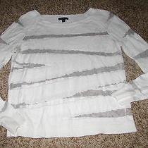 Womens Express White Lightweight Sweater Sheer Very Nice Sz Xs Photo