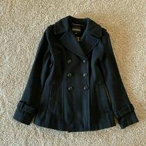 Womens Express Xs Black Pea Coat Photo