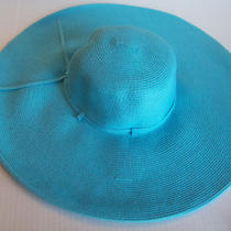 Womens Floppy Wide Brim Packable Summer Sun Hat Blue Photo