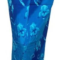 Womens Floral Sarong Wrap in Aqua Blue Photo