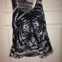 Womens Forever 21 Grey Tank Sz S. Awesome Lion Design Photo