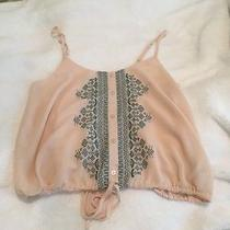 Womens Forever 21 Rory Beca Crop Top Shirt Peach Small B2 Photo