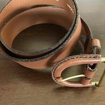 Womens Fossil Belt Size Med Brown Leather Mint Condition 32-34 Waist Photo