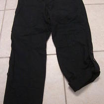 Womens Fossil Black Capris Pants 6 Photo