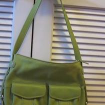 Womens Fossil Light Green Leather Shoulder Bag Photo