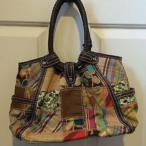 Womens Fossil Modern Vintage Patchwork Purse Bag  Photo
