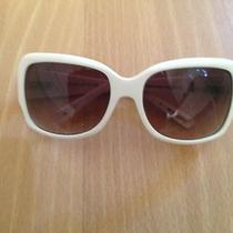 Womens Fossil White Frame Sunglasses Photo
