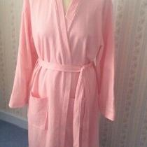 Womens Foxbury Pure Cotton Dressing Gown Robe - Pink - Uk L - New With Tags Photo