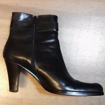 Womens Franco Sarto Black Ankle Boots Size 8 M Excellent Used Condition Photo