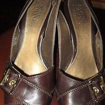 Womensfranco Sarto Size 10 Medium Brown Leather Buckle Heels Euc Deal Photo