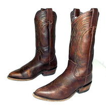 Womens Frye Brand Cowboy Boots Size 7.5 B - Brown Leather - Western Wear Cowgirl Photo