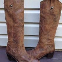 Womens Frye Jackie Button Leather Riding Western Boot Dark Brown Sz 9 Euc 388 Photo