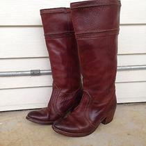 Womens Frye Jane 14l Tall Leather Riding Western Boot Brown Size 7.5 Euc 348 Photo