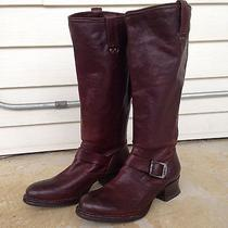 Womens Frye Martina Engineer Tall Leather Riding Boot Chestnut Sz 9 M Nwot 378 Photo