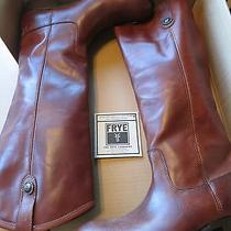 Womens Frye Melissa Button Boots 8m Cognac Photo