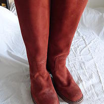 Womens Frye Suede  Leather Brown   Mid-Calf  Boots  Size 9.5m  Euc Photo