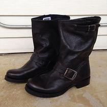 Womens Frye Veronica Short Leather Riding Western Boot Black Size 6 Euc 268 Photo