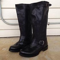 Womens Frye Veronica Slouch Leather Riding Western Boot Black Size 8.5 Euc 328 Photo