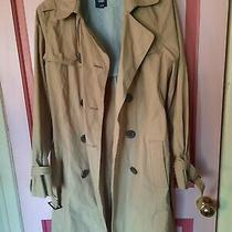 Womens Gap Beige Camel Trench Coat With Belt Size M 100% Cotton Photo