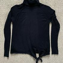 Womens Gap Black Turtle Neck Sweater Size Small Photo