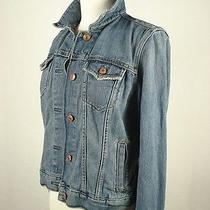Womens Gap Blue Denim Jean Trucker Western Jacket Sz M 7-180 Photo