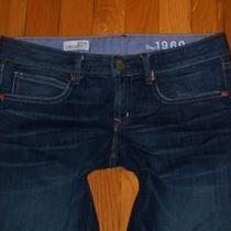 Womens Gap Brand 1969 Real Straight Stretch Jeans Size 27/4 Photo