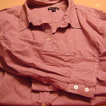 Womens Gap Button-Down Top/shirt/blouse-Size Xxl-Purple/white Checkered Photo