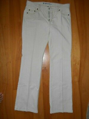 Womens GAP Corduroy Pants Reg 8 Off white Low Rise Boot Cut Stretch smoke free Photo
