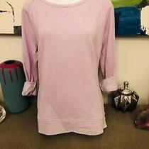 Womens Gap Lilac Pink Crew Neck Sweatshirt Size S Photo
